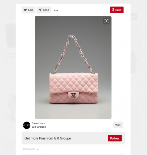 Chanel Valentine Quilted Bag Listed On Gilt