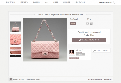 Chanel Valentine Quilted Bag Listed On Haute Trader