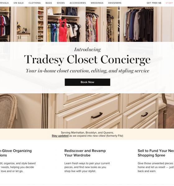 Tradesy Aquires Fitz and Launches Closet Concierge