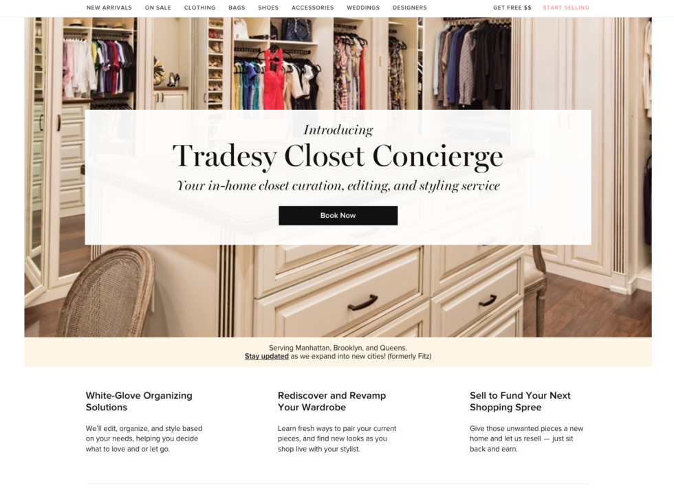 Tradesy Has Just Announce They Have Acquired Fitz, A Service That Delivers  Luxury Wardrobe Management By Professional Stylists, Including Organizing,  ...