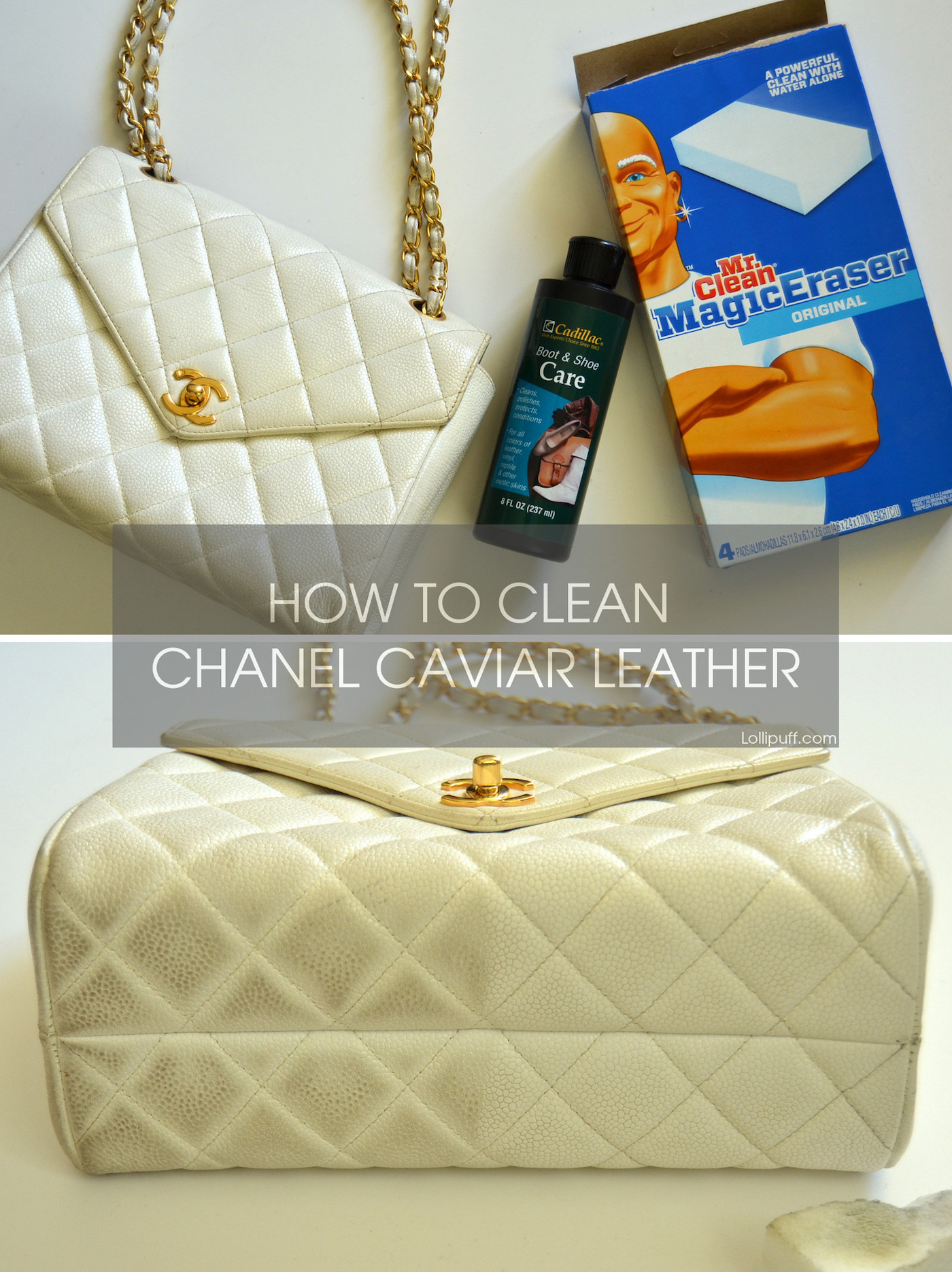 How To Clean A Light Colored Chanel Cavair Leather Bag