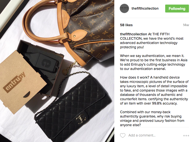 thefifthcollection Entrupy Instagram